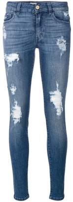 Blugirl distressed skinny jeans