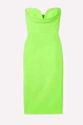 Alex Perry Corley Strapless Neon Crepe Dress - Green