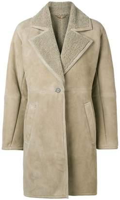 Salvatore Ferragamo shearling-lined coat