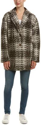 Bernardo Tweed Wool & Mohair-Blend Coat