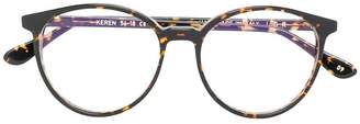 L.G.R tortoiseshell round frame glasses