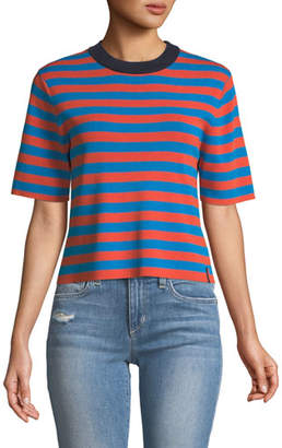Kule The Drew Striped Crewneck Top