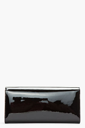Saint Laurent Black Patent Cassandra Clutch