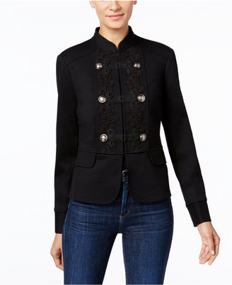 INC International Concepts Soutache Military Jacket, Only at Macy's $119.50 thestylecure.com