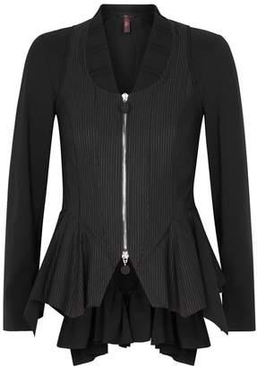 High Musing Black Peplum Jersey Jacket