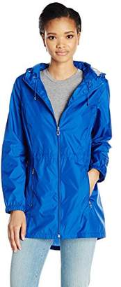 Calvin Klein Women's Lightweight Packable Rain Anorak Jacket with Logo