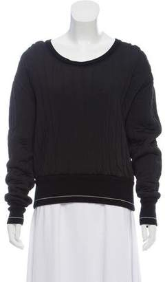 Chloé Heavy Quilted Bateau Sweatshirt