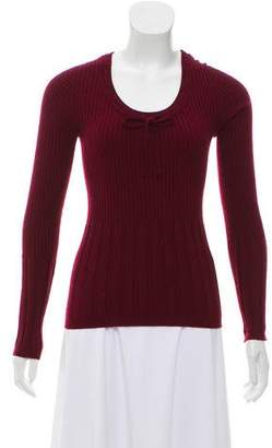 Dolce & Gabbana Rib Knit Crew Neck Sweater