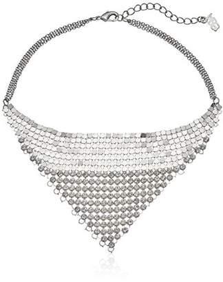 "ABS by Allen Schwartz Rock Stars"" Adjustable Mesh and Stone Choker Necklace"