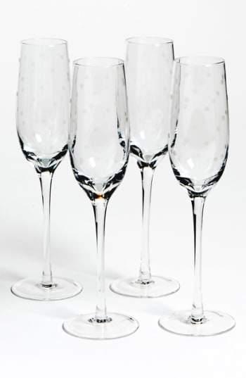 'larabee Dot' Champagne Flutes