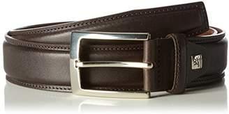 LINDENMANN Mens leather belt/Mens belt, full grain leather belt curved, espresso, Größe/Size:, Farbe/Color: