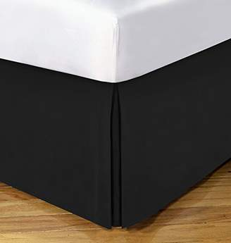 "styling/ Today's Home Microfiber Bed Skirt Dust Ruffle Classic Tailored Styling 14"" Drop Queen"