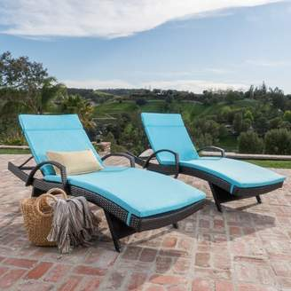 Three Posts Lenahan Reclining Chaise Lounge with Cushion
