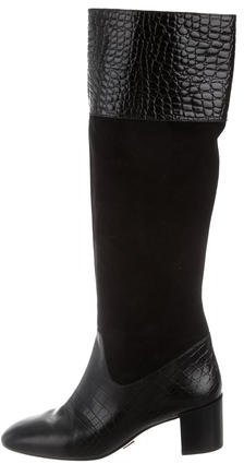 Michael Kors Leather Embossed Boots