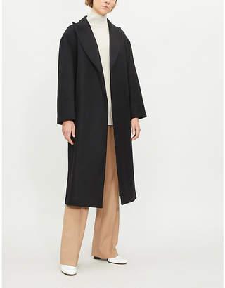 Sandro Belted wool-blend coat
