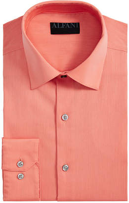 Alfani AlfaTech by Men Bedford Cord Classic/Regular Fit Dress Shirt