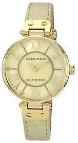 Anne Klein Women's Goldtone Leather Strap Watch