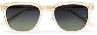 Barton Perreira Coltrane Square-Frame Acetate Polarised Sunglasses - Gold