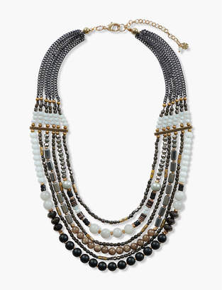 Lucky Brand GOLD BEADED STATEMENT NECKLACE