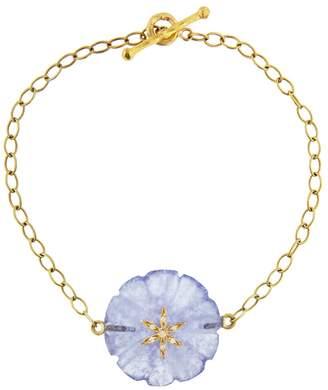 Cathy Waterman 12.40 CT Chalcedony Flower Bracelet - Yellow Gold
