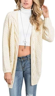 0558159c3f59 at Amazon Canada · Xiakolaka Women s Long Sleeve Chunky Sweater Open Front Cable  Knit Cardigans L