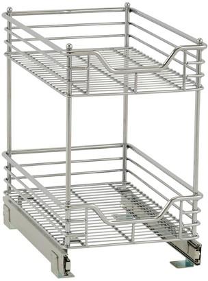 Household Essentials Design Trend Standard Depth 2-Tier 11.5-inch Wide Sliding Under Cabinet Organizer