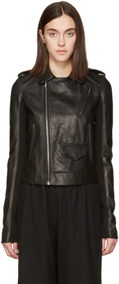 Rick Owens Black Leather Stooges Jacket $1,805 thestylecure.com