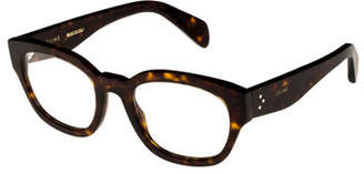 Celine Rectangle Acetate Optical Frames, Light Brown