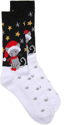 K. Bell Snow Kitty Crew Socks - Women's