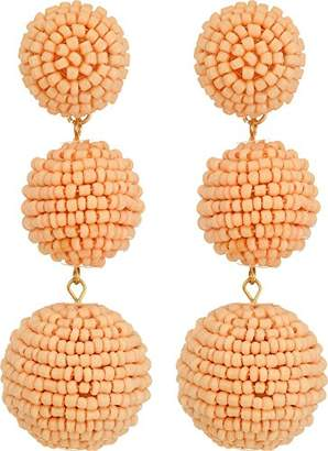 Kenneth Jay Lane Seedbead Wrapped Ball Drop Earrings