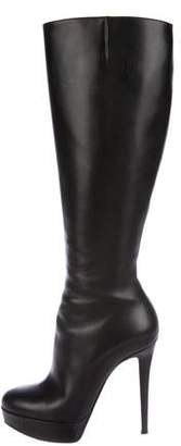 Christian Louboutin Bianca Knee-High Platform Boots