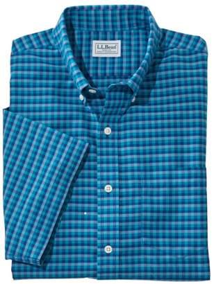 L.L. Bean L.L.Bean Men's Wrinkle-Free Kennebunk Sport Shirt, Traditional Fit Short-Sleeve Check