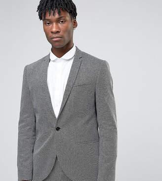 Noak Slim Suit Jacket In Monochrome Texture