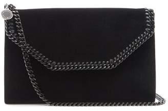 Stella McCartney Falabella Mini Velvet Cross Body Bag - Womens - Black