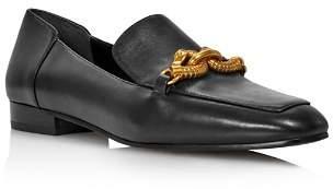 Tory Burch Women's Jessa Almond-Toe Leather Loafers