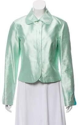 Emilio Pucci Satin Button-Up Jacket