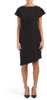 Short Sleeve Side Ruched Dress