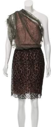 Lanvin Off-The-Shoulder Lace Dress w/ Tags