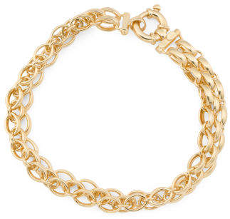 Made In Italy 14k Gold Panther Bracelet