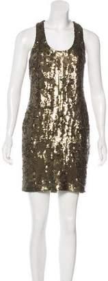 Robert Rodriguez Sequined Sheath Dress
