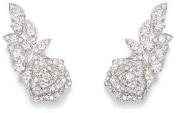Piaget Rose 18k White Gold Diamond Earrings