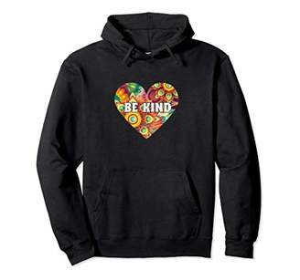 Be Kind Bohemian Floral Heart Statement Hoodie