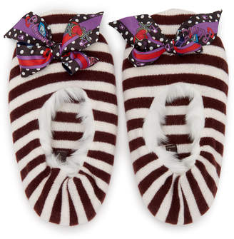 Henri Bendel Faux Fur Cashmere Slippers