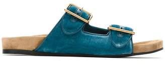 Prada buckle slip-on sandals