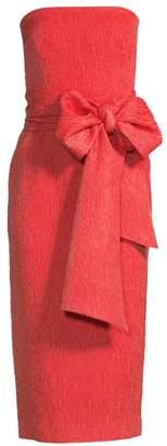 Rebecca Vallance Francesca Tie Midi Sheath Dress