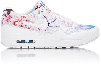 Nike Women's Air Max 1 Print Sneakers-WHITE $110 thestylecure.com