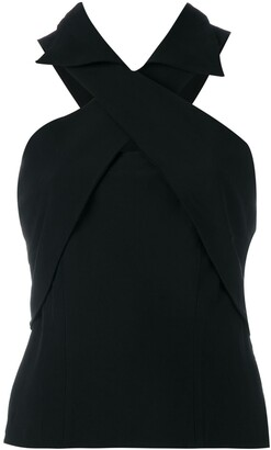 Gianfranco Ferre Pre-Owned crossover strap top