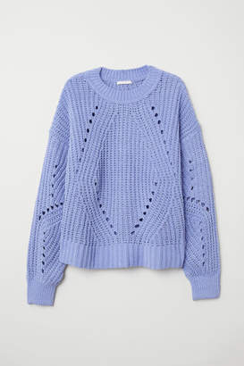 H&M Rib-knit Sweater - Blue
