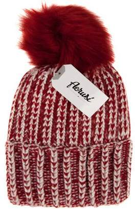 AERUSI Melinda Ladies Warm Comfy Fall Winter Spring Knitted Beanie POMPOM [One size fits most]