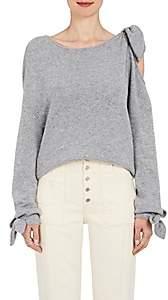 Derek Lam 10 Crosby Women's Tied-Shoulder Knit Cashmere Sweater - Gray